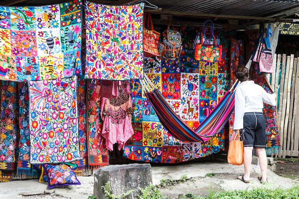 Roadside craft stand, Arenal Tilaran Conservation Area, Costa Rica.