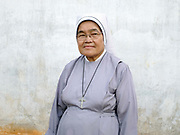 Sister Louise Claire at St Anns Home, Sisters of Charity in Le Wo ethnic Kayan village, Kayah State, Myanmar on 13th November 2016