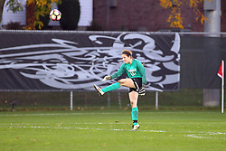 04 November 2016:  Whitney Biggs during an NCAA Missouri Valley Conference (MVC) Championship series women's semi-final soccer game between the Loyola Ramblers and the Evansville Purple Aces on Adelaide Street Field in Normal IL