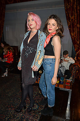Left to right, INDIA ROSE JAMES and MORGANE POLANSKI at the True Religion House Party held at 48 Greek Street, Soho, London on 2nd June 2016.