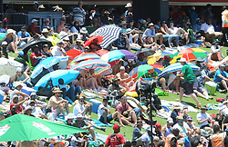 Pretoria 26-12-18. The 1st of three 5 day cricket Tests, South Africa vs Pakistan at SuperSport Park, Centurion. Day 1. Crowds in full sun during the morning session as temperatures soared to around 35deg Celcius.<br /> Picture: Karen Sandison/African News Agency(ANA)