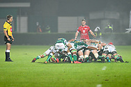 Scrum between Benetton Treviso and Scarlets Rugby during the Guinness Pro 14 Rugby Union match between Benetton Treviso and Scarlets Rugby on October 23, 2020 at Stadio Comunale di Monigo in Treviso, Italy - Photo Ettore Griffoni / LM / ProSportsImages / DPPI