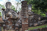 Wat Prakaeo was the royal temple which was once adjacent to the royal palace - now in ruins. The temple was used for important city festivals. The Buddha images at Wat Phra Kaeo are its most distinctive feature, one reclining Buddha surrounded by two sitting Buddhas.