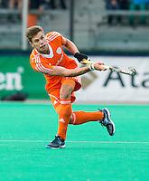 ROTTERDAM - HOCKEY - Sander de Wijn  tijdens de wedstrijd tussen de mannen bvan Nederland en Nieuw Zeeland (3-3)  bij de Rabobank Hockey World League in Rotterdam. ANP KOEN SUYK