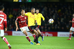 January 6, 2018 - Watford, England, United Kingdom - Watford's Marvin Zeegelaar..during FA Cup 3rd Round match between Watford  and Bristol  City at Vicarage Road Stadium, Watford ,  England 06 Jan 2018. (Credit Image: © Kieran Galvin/NurPhoto via ZUMA Press)