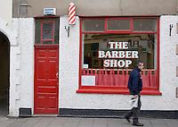 The Barber shop in Dalkey Village in Dublin Ireland