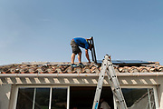 installing of solar panels on the roof France