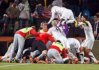 Fotball<br /> VM 2010<br /> USA v Algerie<br /> 23.06.2010<br /> Foto: Gepa/Digitalsport<br /> NORWAY ONLY<br /> <br /> Bild zeigt den Jubel der USA