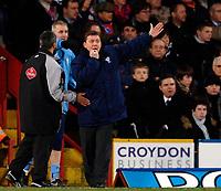 Photo: Daniel Hambury.<br />Crystal Palace v Preston North End. The FA Cup. 07/02/2006.<br />Preston's manager Billy Davies.
