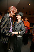 SIR BOB GELDOF AND JEANNE-MARINE. After-drinks JOSEPHINE HART Poetry Hour. British Library. Euston Rd. London. 22 March 2006. ONE TIME USE ONLY - DO NOT ARCHIVE  © Copyright Photograph by Dafydd Jones 66 Stockwell Park Rd. London SW9 0DA Tel 020 7733 0108 www.dafjones.com
