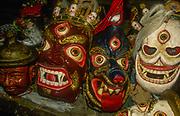 Mani Rimndu festival masks, Olungchungola, Kangchenjunga region, Nepal
