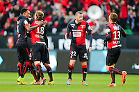 Joie benjamin ANDRE groupe Rennes - 25.01.2015 - Rennes / Caen  - 22eme journee de Ligue1<br /> Photo : Vincent Michel / Icon Sport *** Local Caption ***