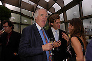 Sir Tim Rice and Donald  Rice. The Serpentine Summer party co-hosted by Jimmy Choo. The Serpentine Gallery. 30 June 2005. ONE TIME USE ONLY - DO NOT ARCHIVE  © Copyright Photograph by Dafydd Jones 66 Stockwell Park Rd. London SW9 0DA Tel 020 7733 0108 www.dafjones.com
