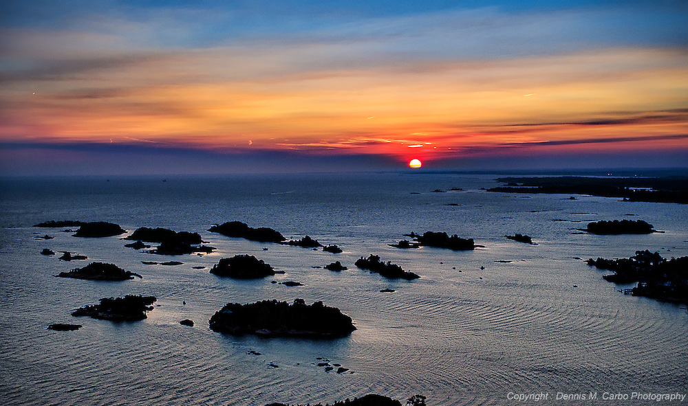 Sunset over the Thimble Islands - Branford, CT