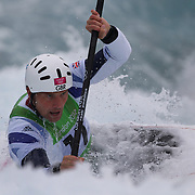 Richard Hounslow, Great Britain, in action during the Kayak Single (K1) Men Final during the Canoe Slalom competition at Lee Valley White Water Centre during the London 2012 Olympic games. London, UK. 1st August 2012. Photo Tim Clayton
