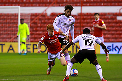 Matt Crooks of Rotherham United fouls Jack Colback of Nottingham Forest - Mandatory by-line: Ryan Crockett/JMP - 20/10/2020 - FOOTBALL - The City Ground - Nottingham, England - Nottingham Forest v Rotherham United - Sky Bet Championship