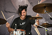Of Mice And Men performing at Warped Tour at the Verizon Wireless Amphitheater in St. Louis on July 5, 2012.