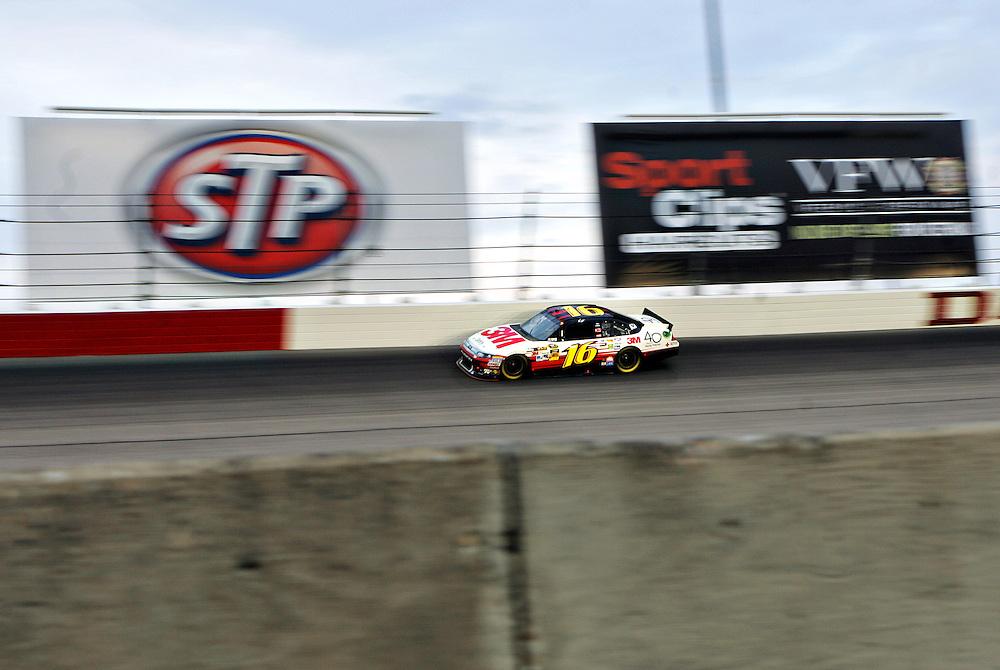 May 12, 2012; Darlington, SC, USA; NASCAR Sprint Cup driver Greg Biffle (16) during the Southern 500 at Darlington Raceway. Mandatory Credit: Peter Casey-US PRESSWIRE.