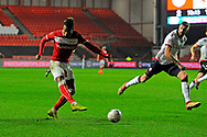 Kasey Palmer (45) of Bristol City shoots at goal during the The FA Cup fourth round match between Bristol City and Bolton Wanderers at Ashton Gate, Bristol, England on 25 January 2019.