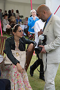 OONA CHAPLIN; RICHARD YOUNG, Cartier Queen's Cup final at Guards Polo Club, Windsor Great Park. 16 June 2013