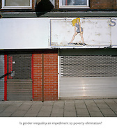 Image from 'The A41 Project - visualising inequality' an arts project by photographer and visual artist Colin McPherson which looks at how the issues around inequality in contemporary society can be expressed through the photographic image. The project uses as its template the historic A41 trunk road, which links central London with Birkenhead on the banks of the Mersey. The project is staged in partnership with The Equality Trust, an organisation which raises awareness and campaigns on inequality in the UK. The project will be exhibited initially at The Public, West Bromwich from 27 February - 6 May 2013 and will include work by participatory groups from communities along the route of the A41.<br /> <br /> The project is funded the the Arts Council England.<br /> <br /> This image is © Colin McPherson, 2013, all rights reserved. No publication or transmission is permitted without prior written approval from the copyright holder. Image may only be reproduced in connection with The A41 Project.<br /> <br /> Further information from: www.equalitytrust.org.uk and www.colinmcpherson.co.uk