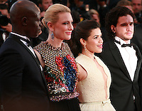 Djimon Hounsou, Cate Blanchett, America Ferrera, Kit Harington, at the the How to Train Your Dragon 2 gala screening red carpet at the 67th Cannes Film Festival France. Friday 16th May 2014 in Cannes Film Festival, France.