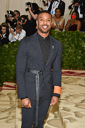 Michael B. Jordan attending the Costume Institute Benefit at The Metropolitan Museum of Art celebrating the opening of Heavenly Bodies: Fashion and the Catholic Imagination. The Metropolitan Museum of Art, New York City, New York, May 7, 2018. Photo by Lionel Hahn/ABACAPRESS.COM