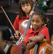 Students perform a holiday concert at Parker Elementary, December 11, 2012, in Houston.