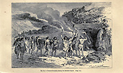 Funeral Ceremony during the Reindeer epoch according to the French illustrator Emile Bayard (1837-1891), illustration Artwork published in Primitive Man by Louis Figuier (1819-1894), Published in London by Chapman and Hall 193 Piccadilly in 1870
