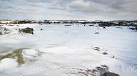 ZANDVOORT - Winter 2021. Hole C9De Kennemer G&CC in de sneeuw.   COPYRIGHT  KOEN SUYK