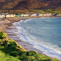 Waterville with Ballinskelligs Bay Beach and Golf Course, County Kerry, N70, Ireland / wv053
