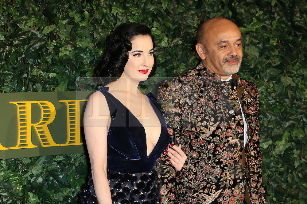 © Licensed to London News Pictures. 13/11/2016. London, UK, Dita Von Teese; Christian Louboutin, Evening Standard Theatre Awards, Photo credit: Richard Goldschmidt/LNP
