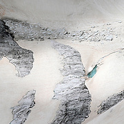 An icefall and melt water of Taschachferner glacier are seen near the village of St. Leonhard im Pitztal, Austria, July 6, 2019. REUTERS/Lisi Niesner
