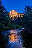 Merced River and Half Dome, Yosemite Valley, Yosemite National Park, California USA.