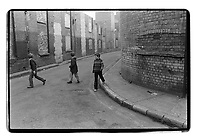 3 kids in the Rotherhithe area, 1982. South-East London, 1982