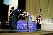 SHOT 5/10/15 3:09:58 PM - Naropa University Spring 2015 Commencement ceremonies at Macky Auditorium in Boulder, Co. Sunday. Parker J. Palmer, a world-renowned author and activist known for his work in education and social change, delivered the commencement speech to more than 300 graduate and undergraduate students along with Naropa faculty and graduate's family members. Naropa University is a private liberal arts college in Boulder, Colorado founded in 1974 by Tibetan Buddhist teacher and Oxford University scholar Chögyam Trungpa. (Photo by Marc Piscotty / © 2014)