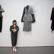 """18.05.2018.          <br /> More than 500 people attended the flagship event of the inaugural Unwrap LSAD Fashion Festival in Limerick.<br /> <br /> Graduate Louise Marchand is pictured with her collection, Dissasociate.<br /> <br /> The Limerick School of Art & Design, LIT, Fashion Design Graduate Exhibition and launch of the """"The Fashion Film"""" at Limerick City Gallery of Art, in partnership with EVA International, attracted hundreds of people from the world of fashion. <br /> <br /> A total of 27 fashion graduates presented their designs alongside the specially commissioned film by fashion stylist and creative director Kieran Kilgallon and videographer Albert Hooi. Picture: Alan Place"""