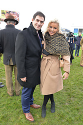 ZAFAR RUSHDIE and NATALIE COYLE at the 2015 Hennessy Gold Cup held at Newbury Racecourse, Berkshire on 28th November 2015.