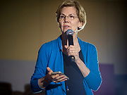 03 MAY 2019 - AMES, IOWA: Sen. ELIZABETH WARREN (D-MA) during her campaign appearance at Iowa State University in Ames. About 400 people attended the event. Sen. Warren is campaigning in Iowa Friday and Saturday to promote her bid to be the Democratic candidate for the US Presidency. Iowa traditionally hosts the the first selection event of the presidential election cycle. The Iowa Caucuses will be on Feb. 3, 2020.     PHOTO BY JACK KURTZ