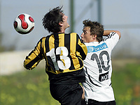 Fotball / Football<br /> La Manga Cup 2007 - Spain<br /> 23.02.2007<br /> Rosenborg v KR Reykjavik Island 1-0<br /> Foto: Morten Olsen, Digitalsport<br /> <br /> Vidar Riseth - RBK<br /> Petur Marteinsson - KR