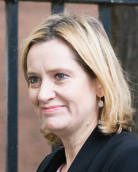 Downing Street, London, October 25th 2016. Home Secretary Amber Rudd leaves10 Downing Street following the weekly cabinet meeting and the announcement that the construction of a third runway at Heathrow Airport has initial government approval.