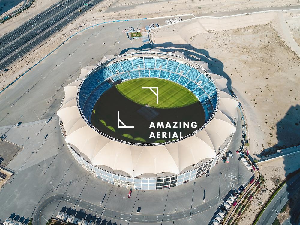 DUBAI, UNITED ARAB EMIRATES - 26 January 2017 : Aerial view of the international cricket stadium in Dubai, United Arab Emirates.