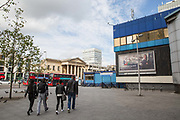 Elephant and Castle shopping centre on 17th September 2015 in Lambeth, South London, United Kingdom.