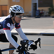 El Tour de Tucson 2014 finisher on 6th Avenue. Bike-tography by Martha Retallick.