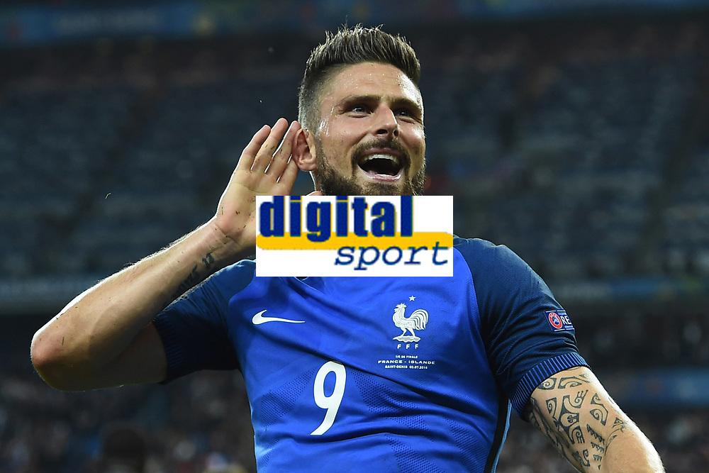 Esultanza gol Olivier Giroud goal celebration<br /> Paris 03-07-2016 Stade de France Football Euro2016 France - Iceland / Francia - Islanda Quarter finals <br /> Foto Matteo Gribaudi/Image Sport