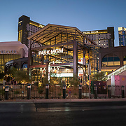 The Park MGM is the only smoke free hotel on the Las Vegas Strip in Las Vegas, Nevada on Thursday, October 15, 2020. (Alex Menendez via AP)