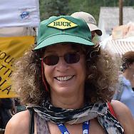 World-reknowned artist Lynn Rae Lowe of Santa Fe, New Mexico at the Telluride Film Festival 2013 in Telluride, Colorado, USA.