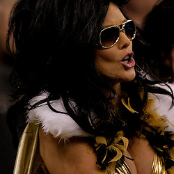 2009 November 30: A New Orleans Saints fan in the stands during a 38-17 win by the New Orleans Saints over the New England Patriots at the Louisiana Superdome in New Orleans, Louisiana.