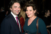 JAMES INGLE AND HORATIA LAWSON, Book launch for AN APPEAL TO REASON, A Cool Look at Global Warming by Nigel Lawson. Hosted by NIGELLA LAWSON, DUCKWORTH PUBLISHERS and ED VICTOR LTD.<br />The Garrick Club. London. 16 April 2008.  *** Local Caption *** -DO NOT ARCHIVE-© Copyright Photograph by Dafydd Jones. 248 Clapham Rd. London SW9 0PZ. Tel 0207 820 0771. www.dafjones.com.