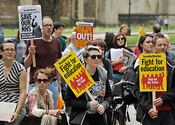 June 10, 2017 - Bristol, Bristol, UK - Bristol, UK. General Election 2017; ''May Must Go Now! Bristol March For Our Future'', rally on College Green, calling on the Prime Minister Theresa May to resign following the general election 2 days ago and the outcome of a hung parliament with the Conservatives having no overall majority and Theresa May seeking to do a deal with the DUP. The event was originally called before polling day on the themes of ''Bristol March for our Future'', ''No more cuts to Health, Schools, care for the elderly and disabled. No to attempts to divide us through racism.'' The event is supported by North Somerset National Union of Teachers, Bristol and District Anti Cuts Alliance, No to Bristol School Budget Cuts, Protect Our NHS, Fair Funding For Schools, Bristol Stand Up To Racism, Bristol Unite Composite Branch S/W. Picture credit : Simon Chapman/LNP (Credit Image: © Simon Chapman/London News Pictures via ZUMA Wire)